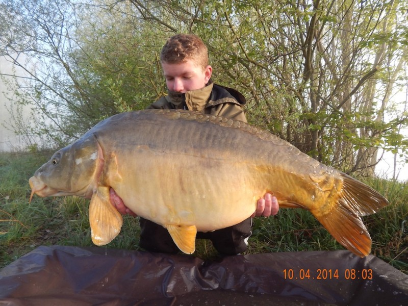 Mike with a 30.06lb mirror