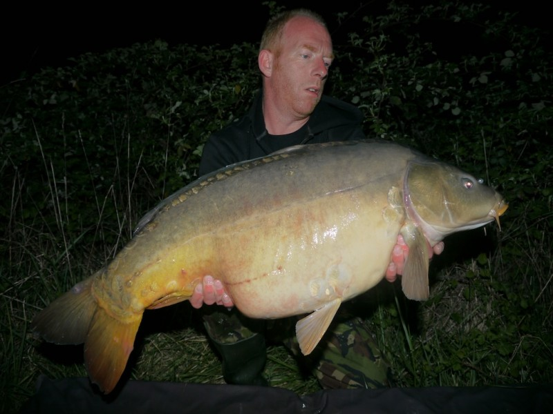Simon with a 38.08lb mirror