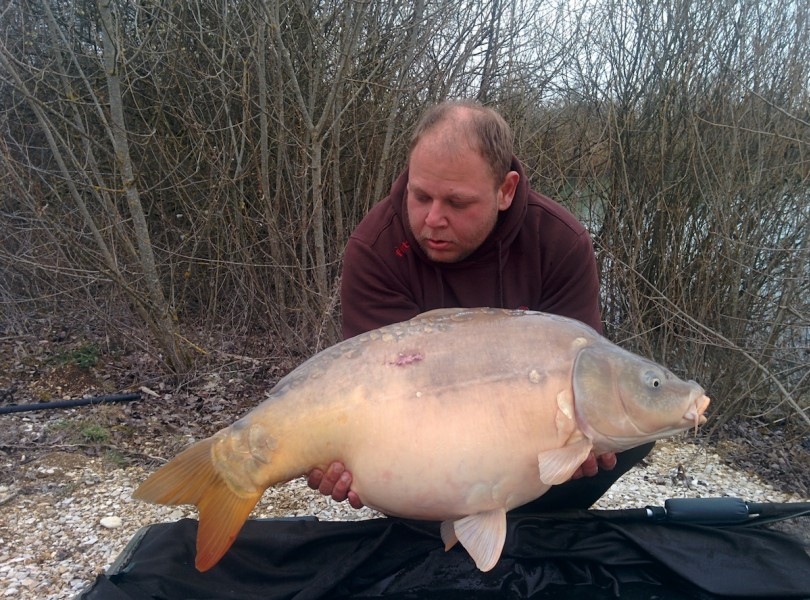 kenny with a 36lbs mirror
