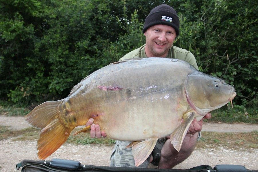 kristian with 'Big Pecks' at 41lb 6oz