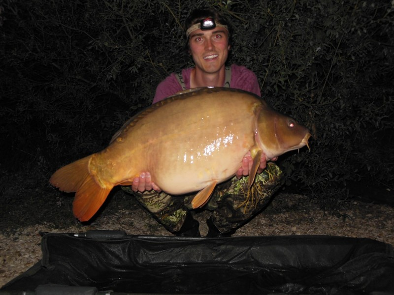 Chris with a 36lbs mirror