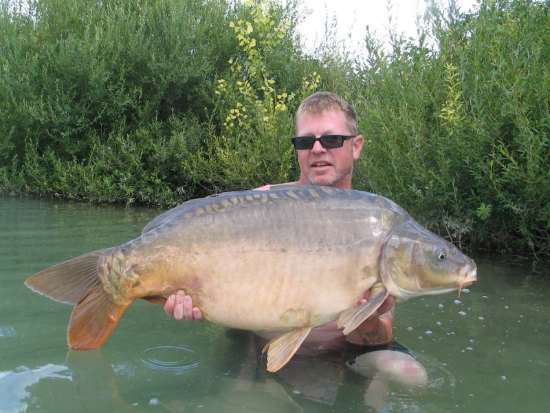 Graham with a 35lbs mirror