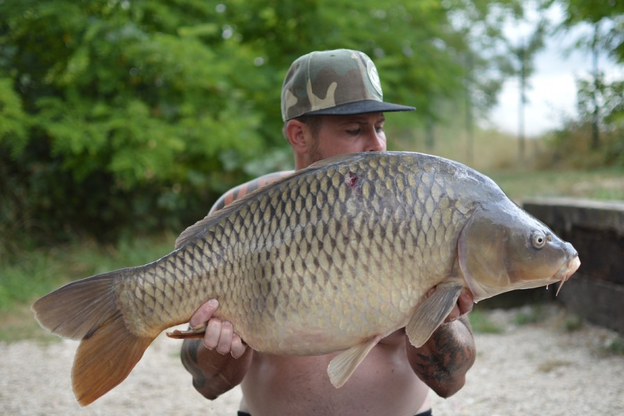 Adam with a 33lbs common