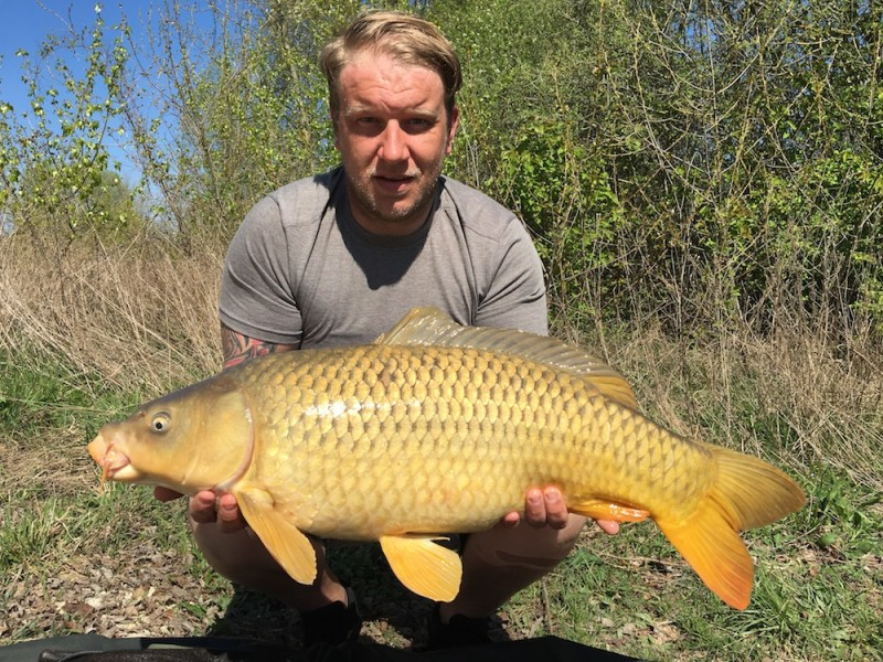 Joe with a 21lb common out of Tea Party 2