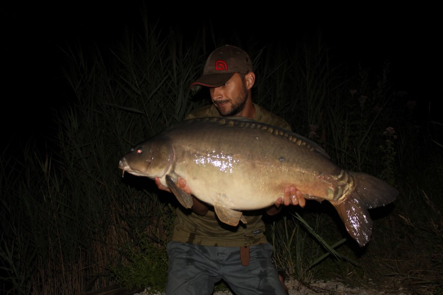 Ben Rogers with a 33lb8oz mirror from Billys 29.7.17