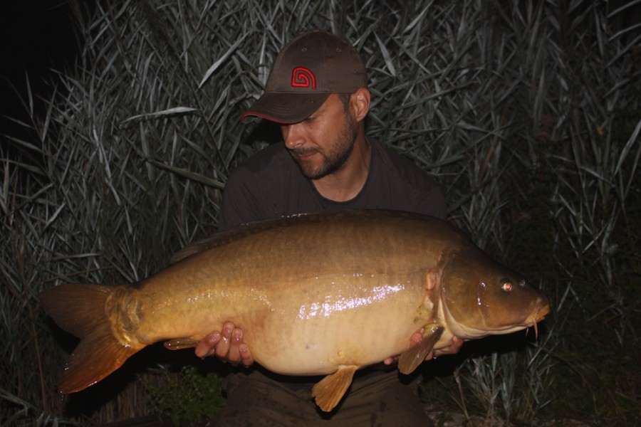 Ben Rogers with a 32lb mirror from Billys 29.7.17