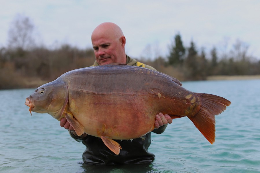Steve French with Frankie @ 53lb 4oz from The Beach, MEGA! 23/03/19