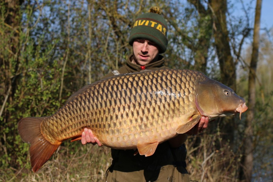 Jack Barrow with Long Common at 48lb 13.4.2019 from Eastwoods