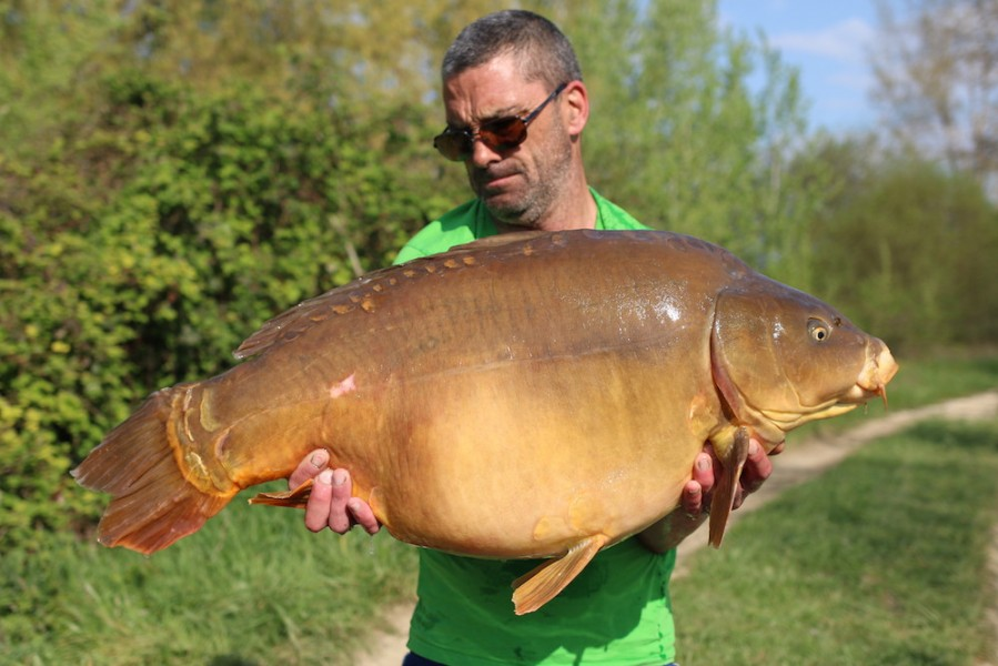 Andy Bowman with Broken Tail at 47lb from Bacheliers 13.4.2019