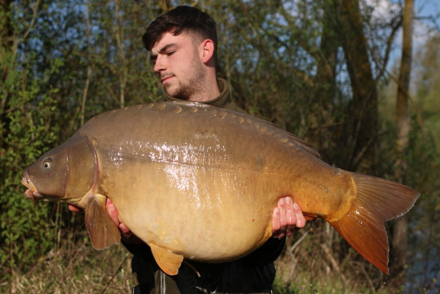 Jack Barrow with Swaley's Mirror at 46lb from Eastwoods 13.4.2019